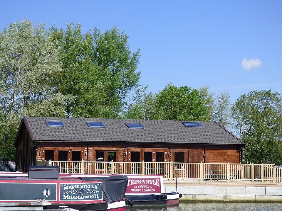 The Boathouse Cafe on the river Nene