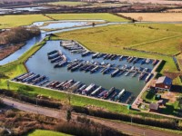 White Mills Marina on the river Nene, Earls Barton