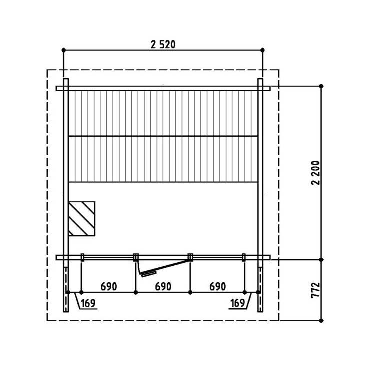 Keops Arvid sauna floor plan