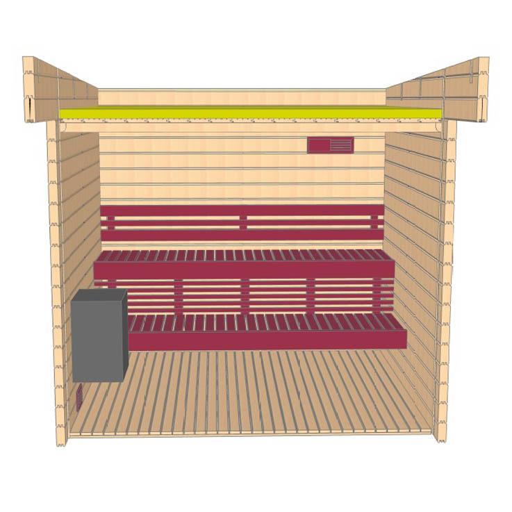 Keops Arvid sauna layout