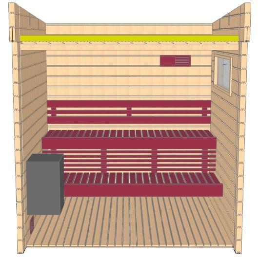 Keops Aster Sauna layout