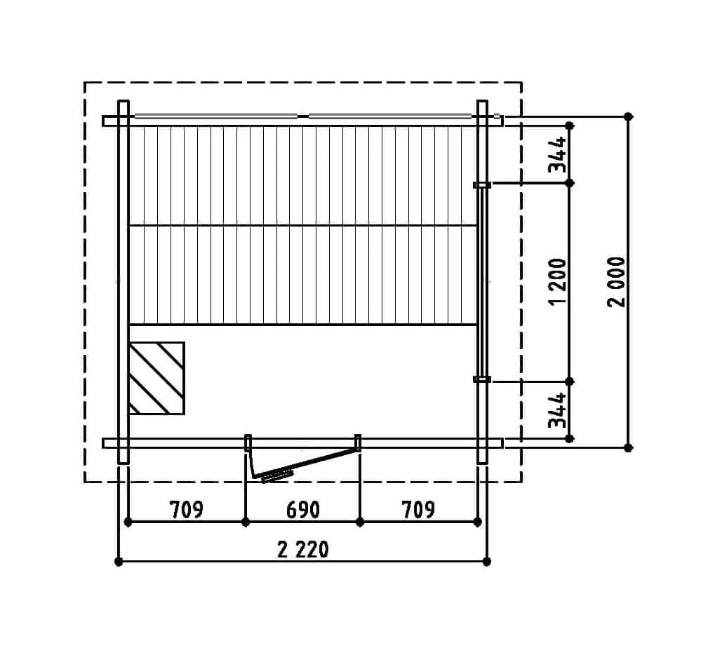 Keops Aster sauna floor plan