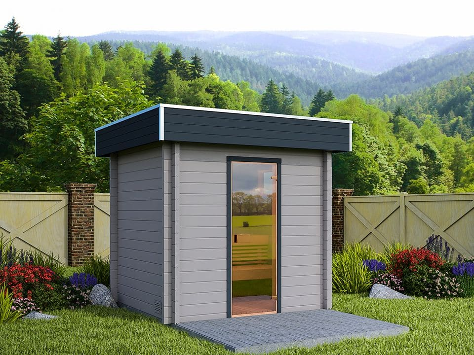 Keops Aster sauna log cabin