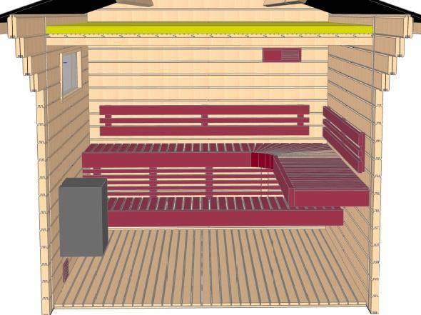 Keops Ebba sauna layout