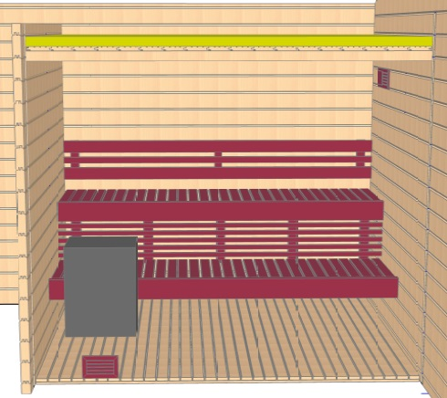 Keops Erling sauna layout