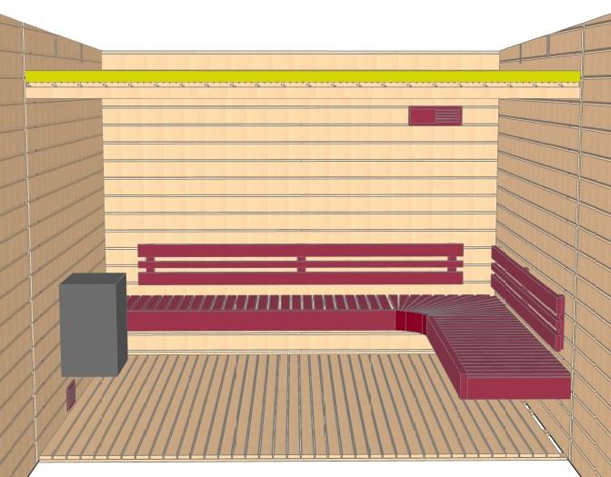 Keops Freya sauna layout