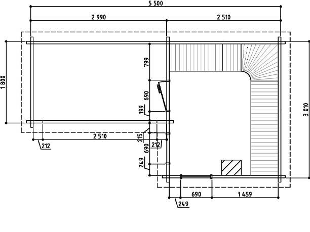 Keops Halvor sauna floor plan