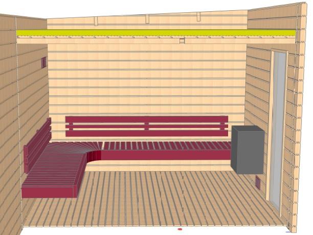 Keops Halvor sauna layout