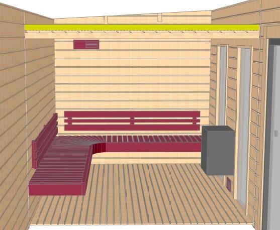 Keops Hedda sauna layout