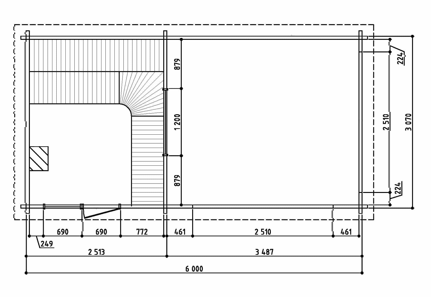 Keops Thor sauna floor plan