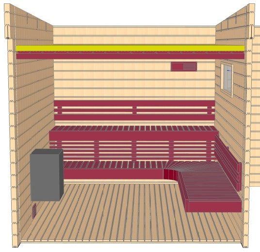 Keops Thor sauna layout