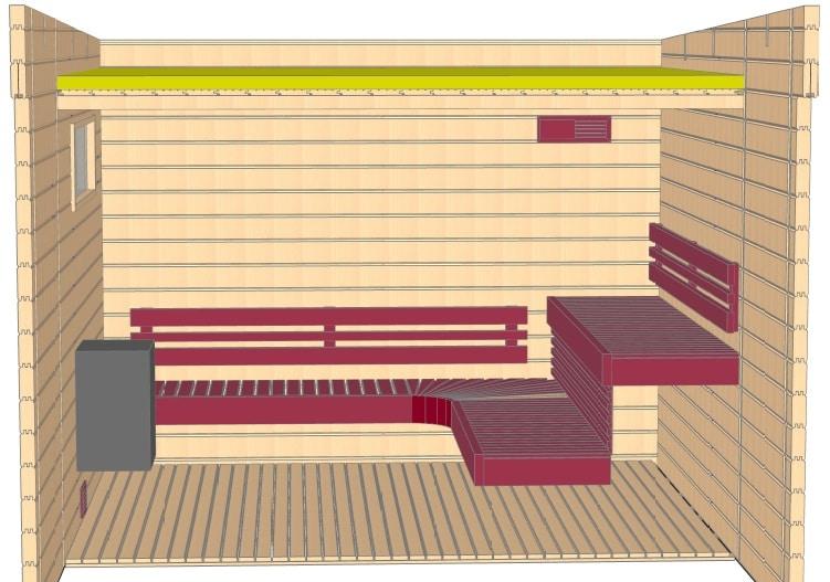 Keops Torvald sauna layout