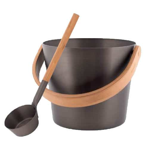 Sauna bucket & ladle anthracite
