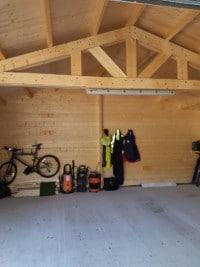 Double garage interior