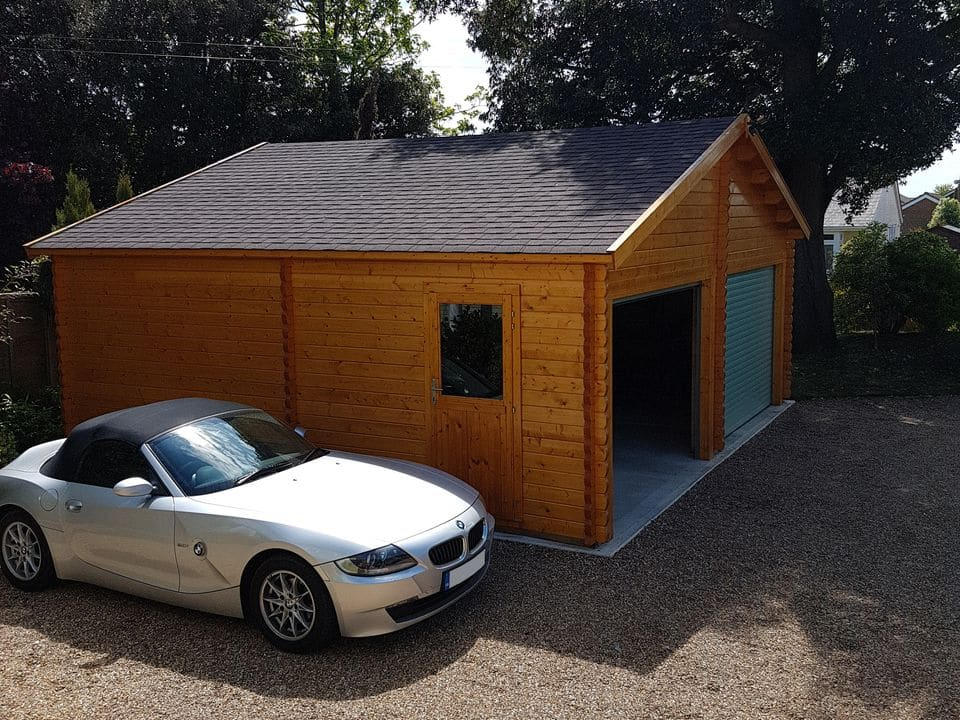 Keops Classic log cabin double garage 7m x 6m