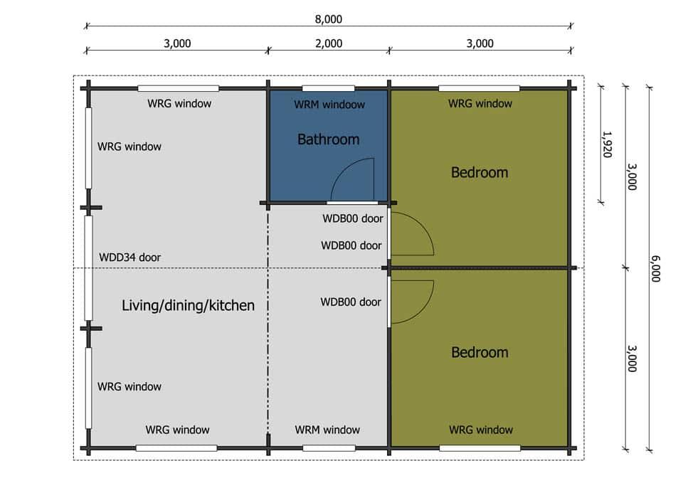 Keops caravans & mobile homes - Keops Interlock Log Cabins