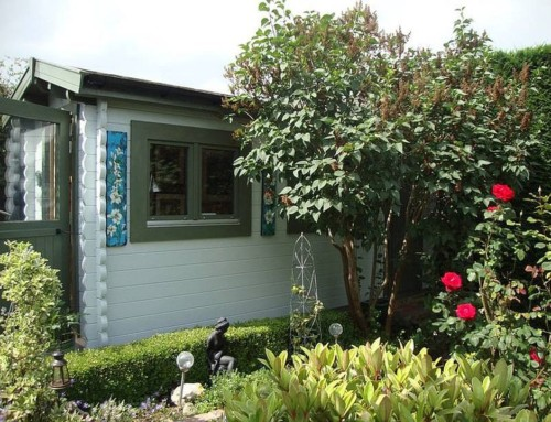 Garden art studio and tool shed