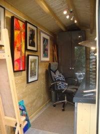 Small garden art studio