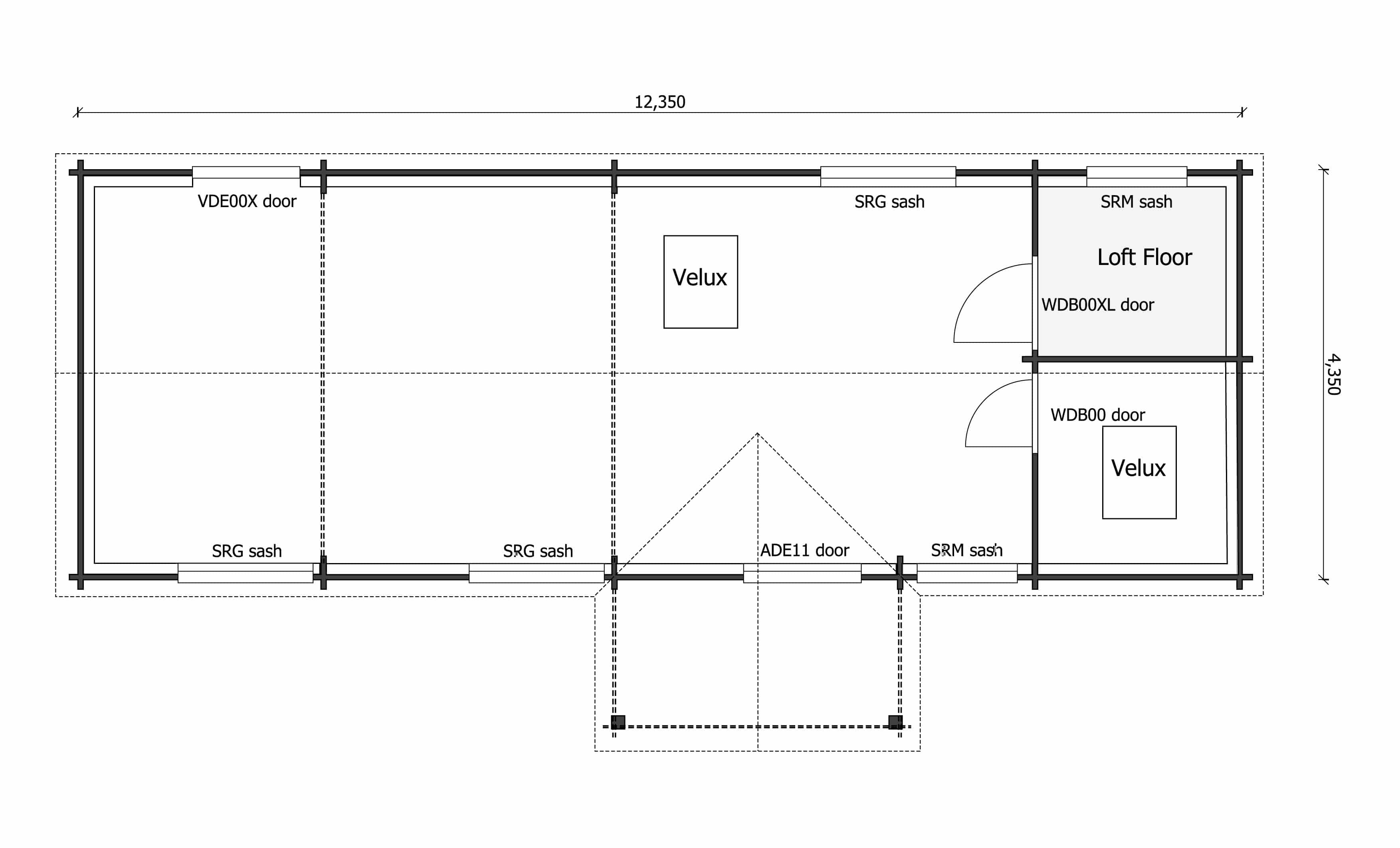 Hawkchurch Community Shop floor plan