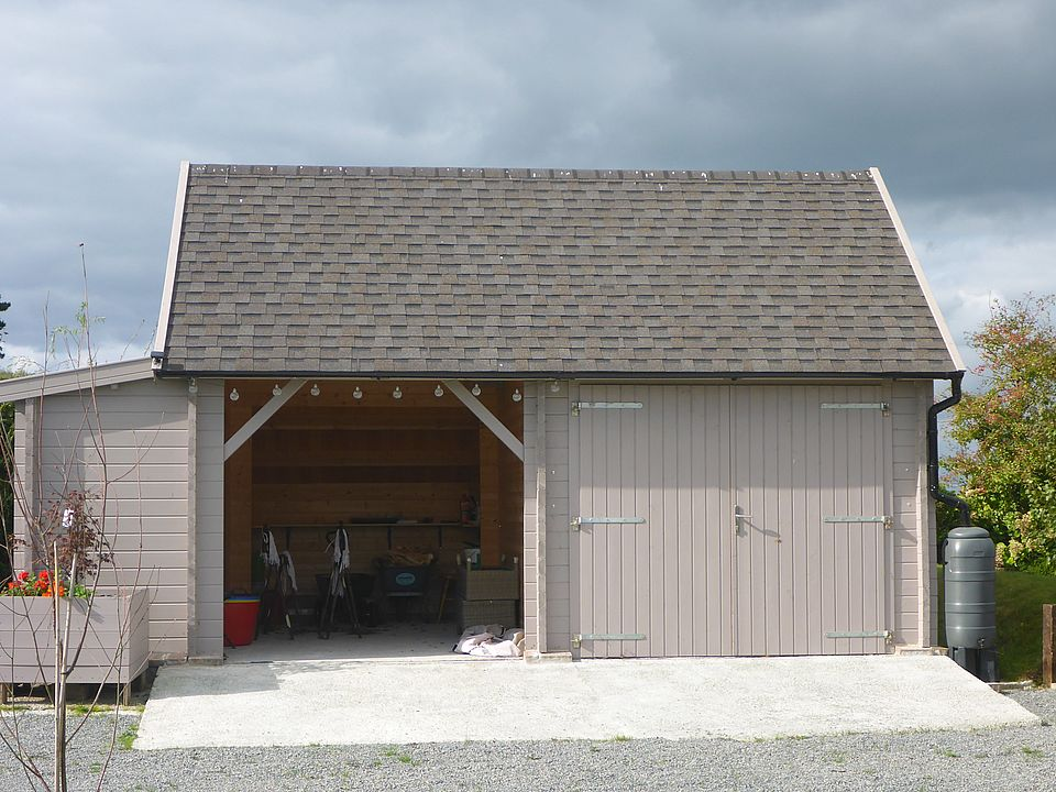 Keops steep roof garage