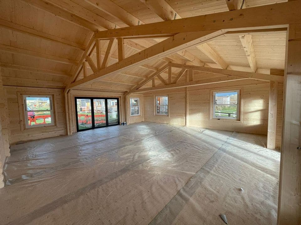 Inside Building regs cabin