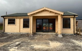 Wildgoose Rural Training log cabin to Building regulations standard
