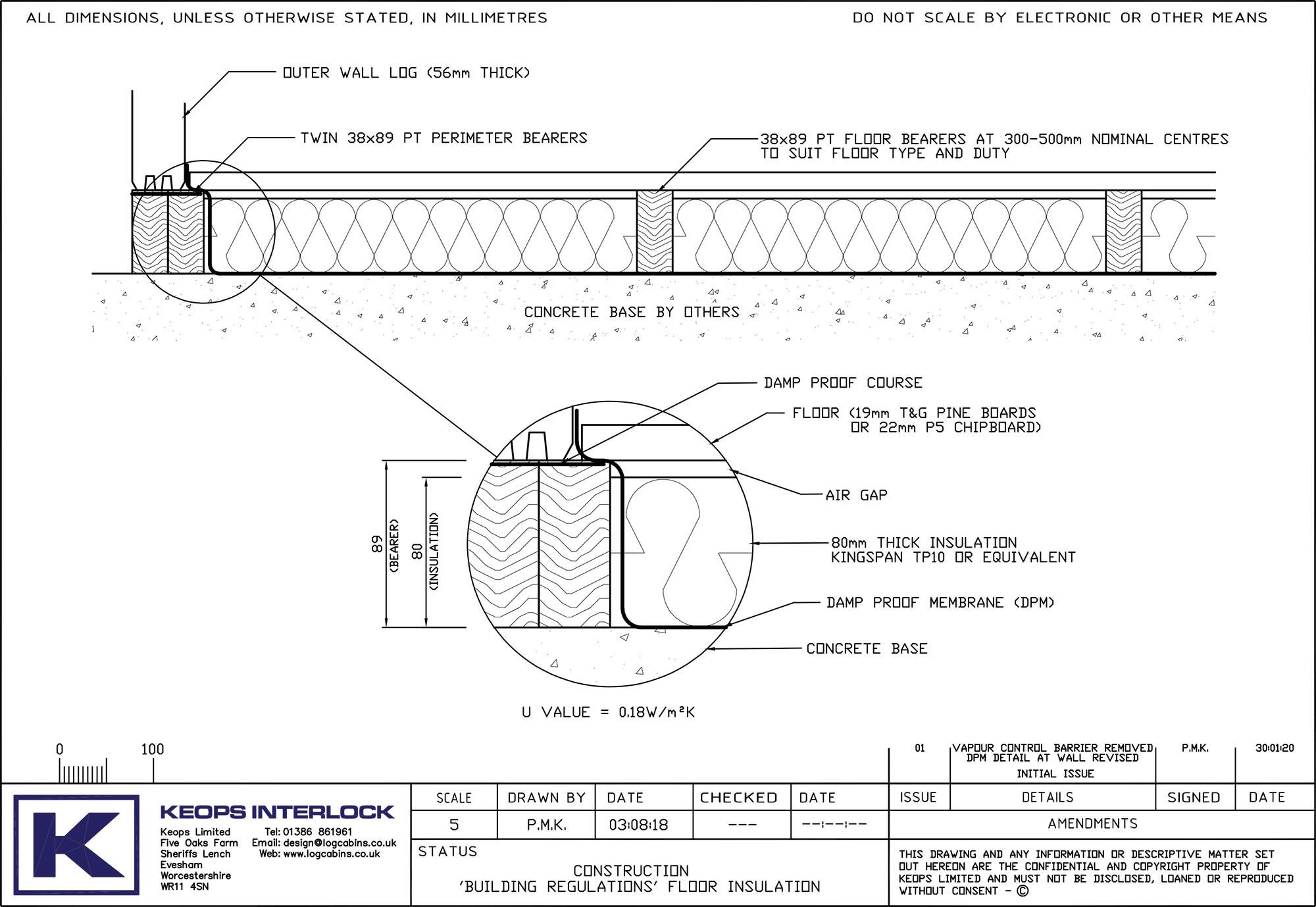 Keops Interlock Building Regulations floor insulation for log cabins