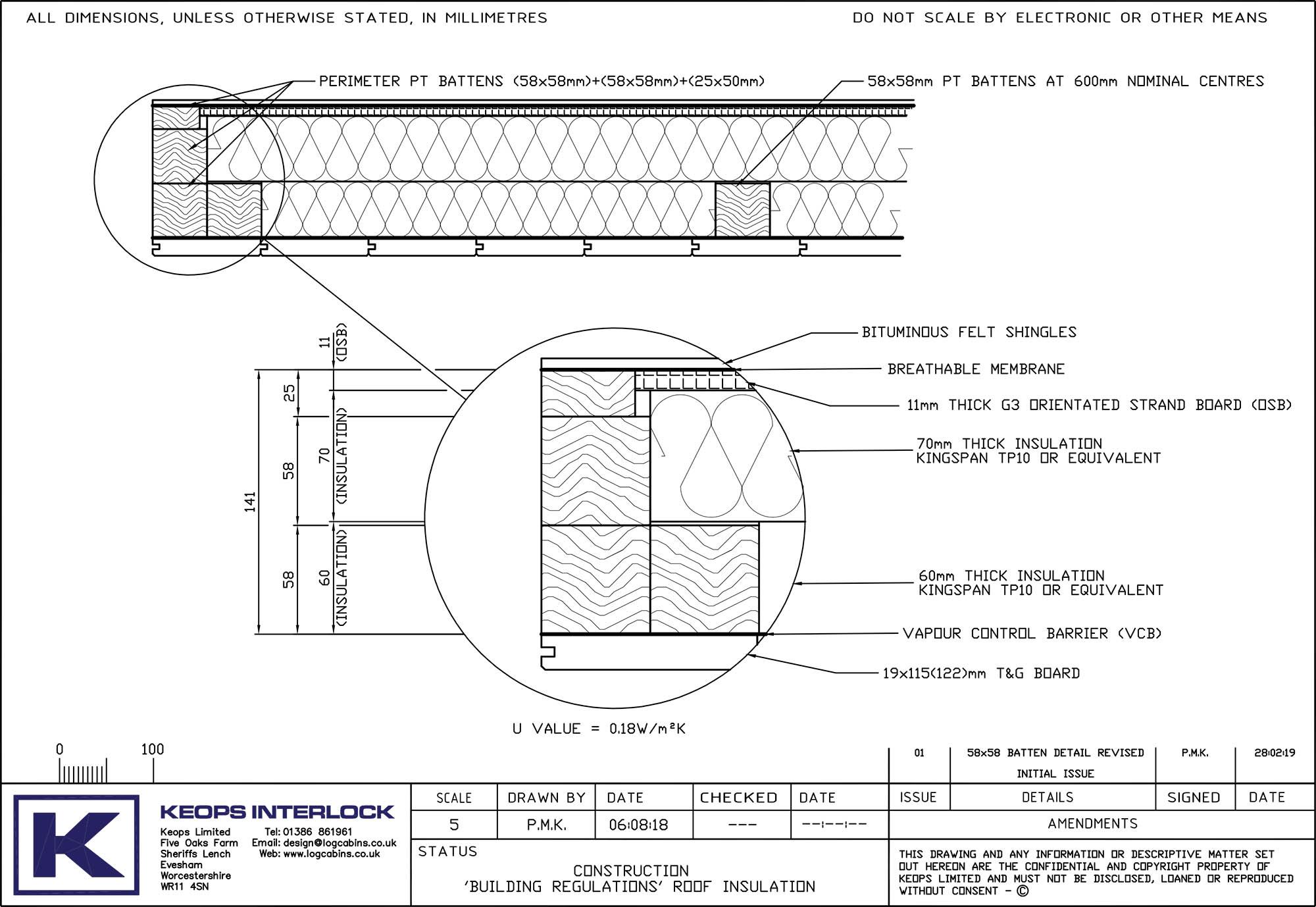 Keops Interlock Building Regulations roof insulation for log cabins