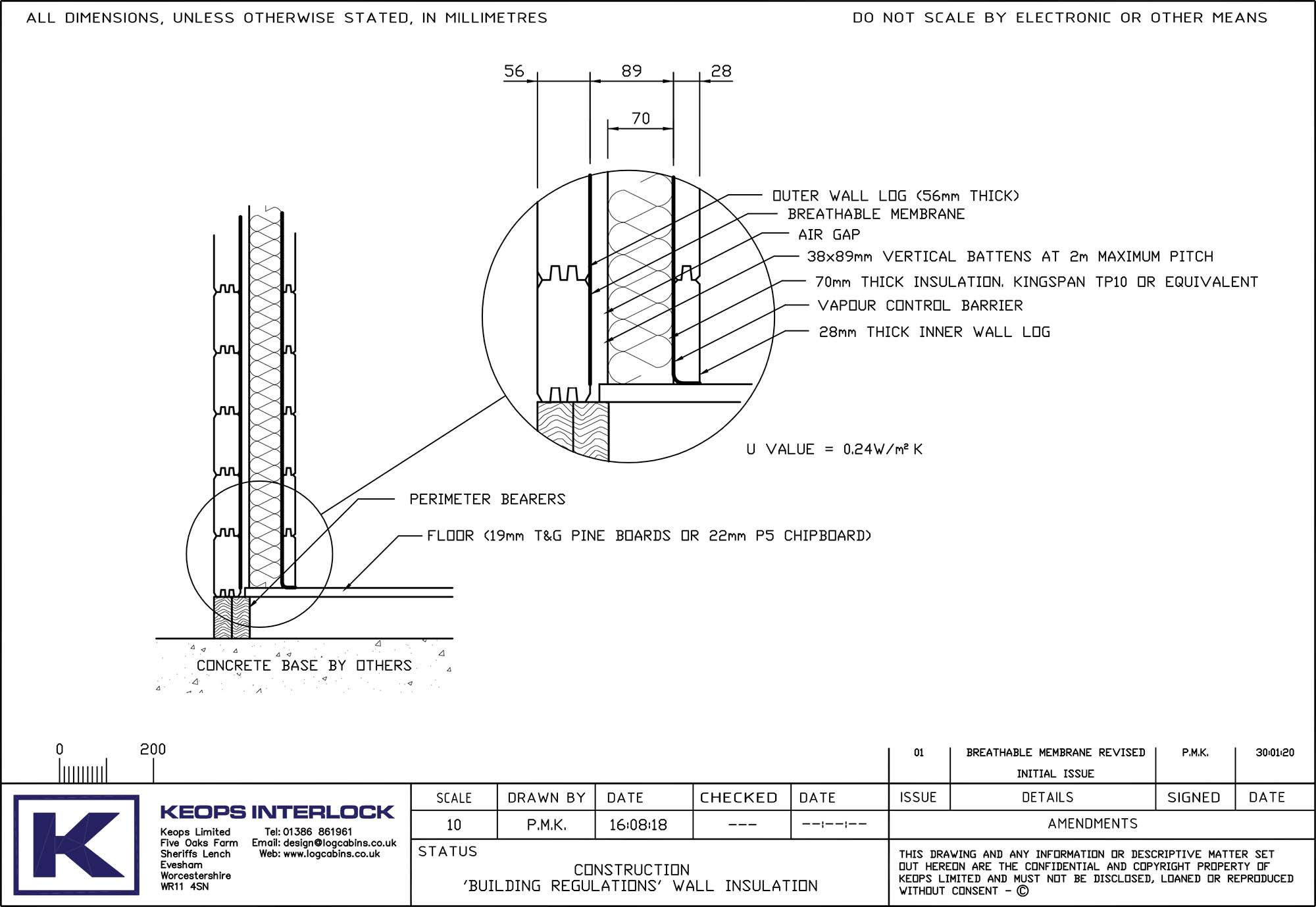 Keops Interlock Building Regulations wall insulation for log cabins