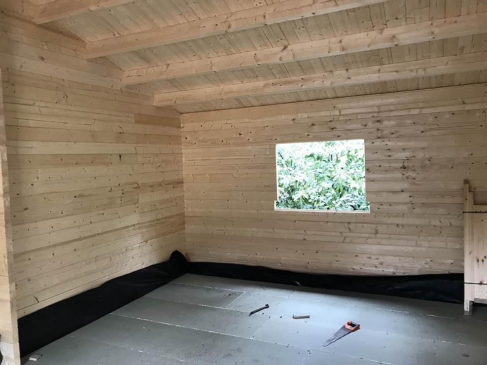 Classroom with building regs floor insulation