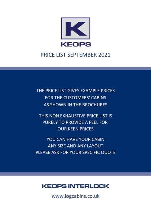 Keops Price List Sept 2021