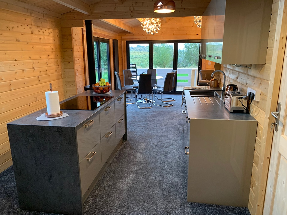 Keops office kitchen and dining area